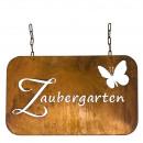 Großhandel Dekoration: Metall Tafel Zaubergarten , L45cm, H32cm, ...